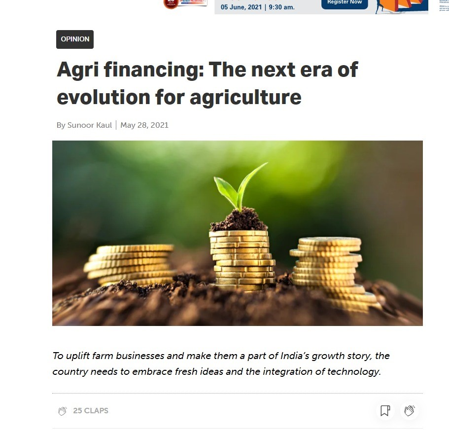Agri financing: The next era of evolution for agriculture