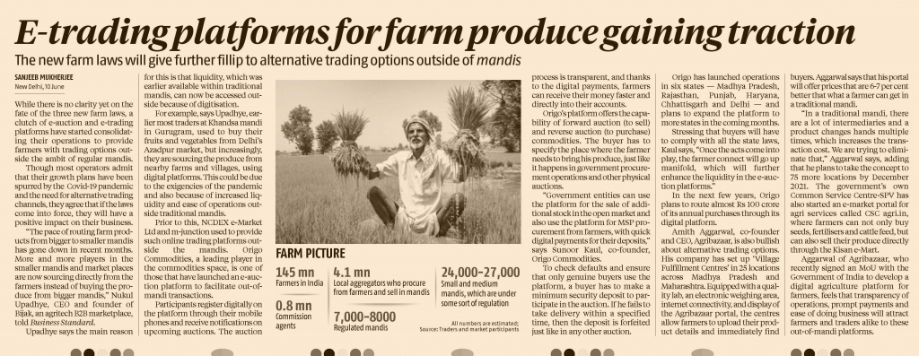 E-trading platforms for farm produce gaining traction